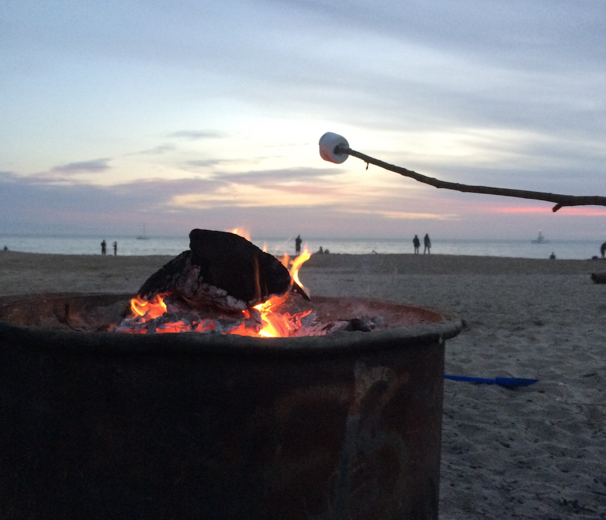 Nothing tastes better than S'mores made from a toasty beach bonfire at sunset.