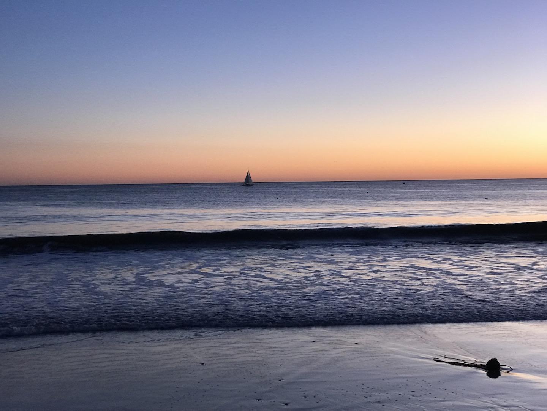 Another amazing sunset at Seabright Beach in Santa Cruz.