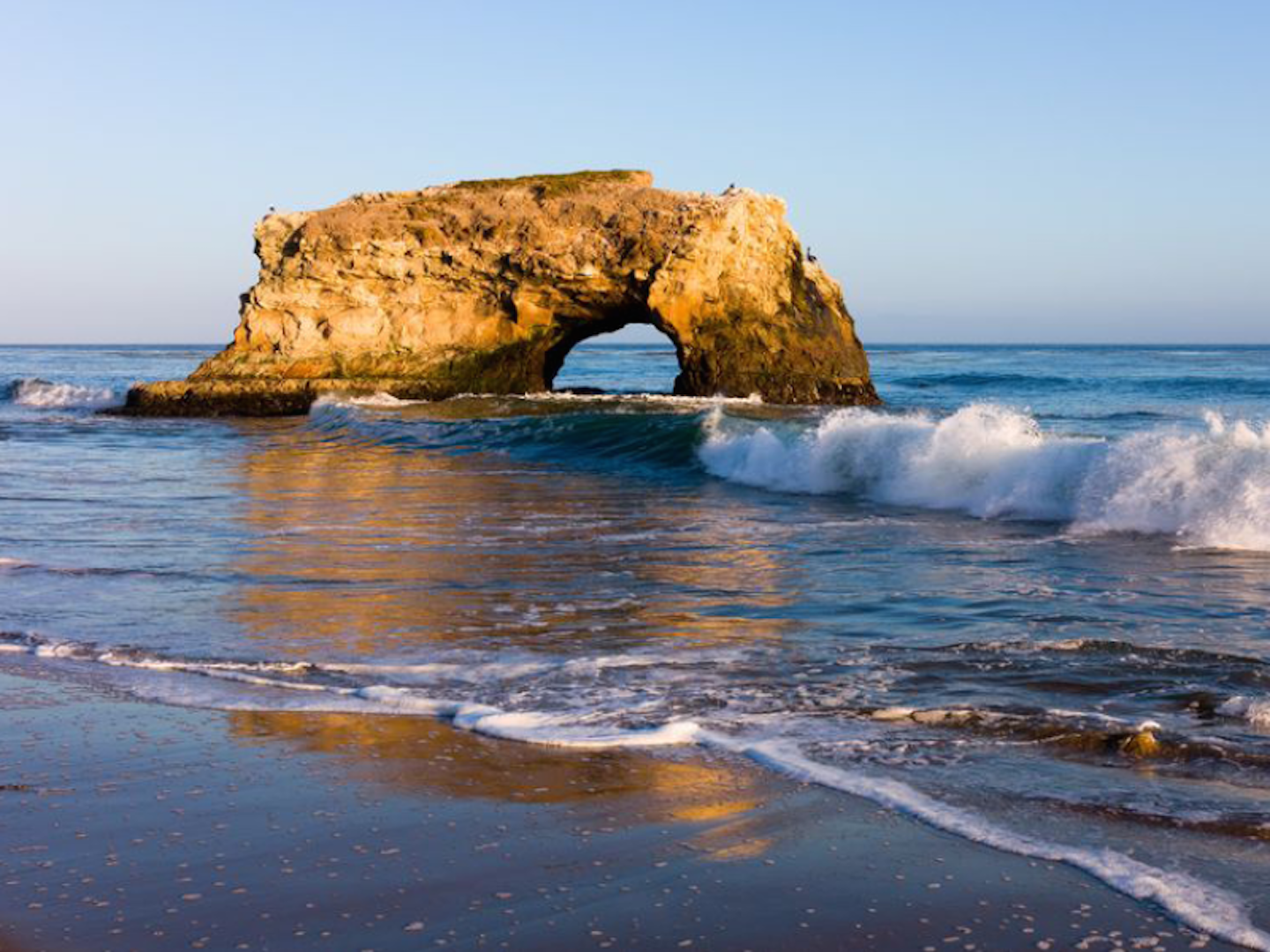 Natural Bridges is known for its stunning rock formation, monarch butterflies and tide pools.