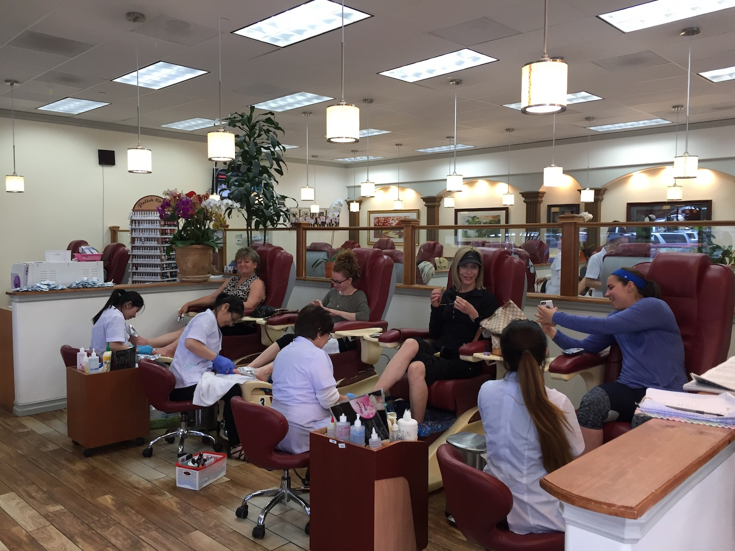 You can usually get a mani-pedi at Tracy's Nails in Capitola without an appointment.