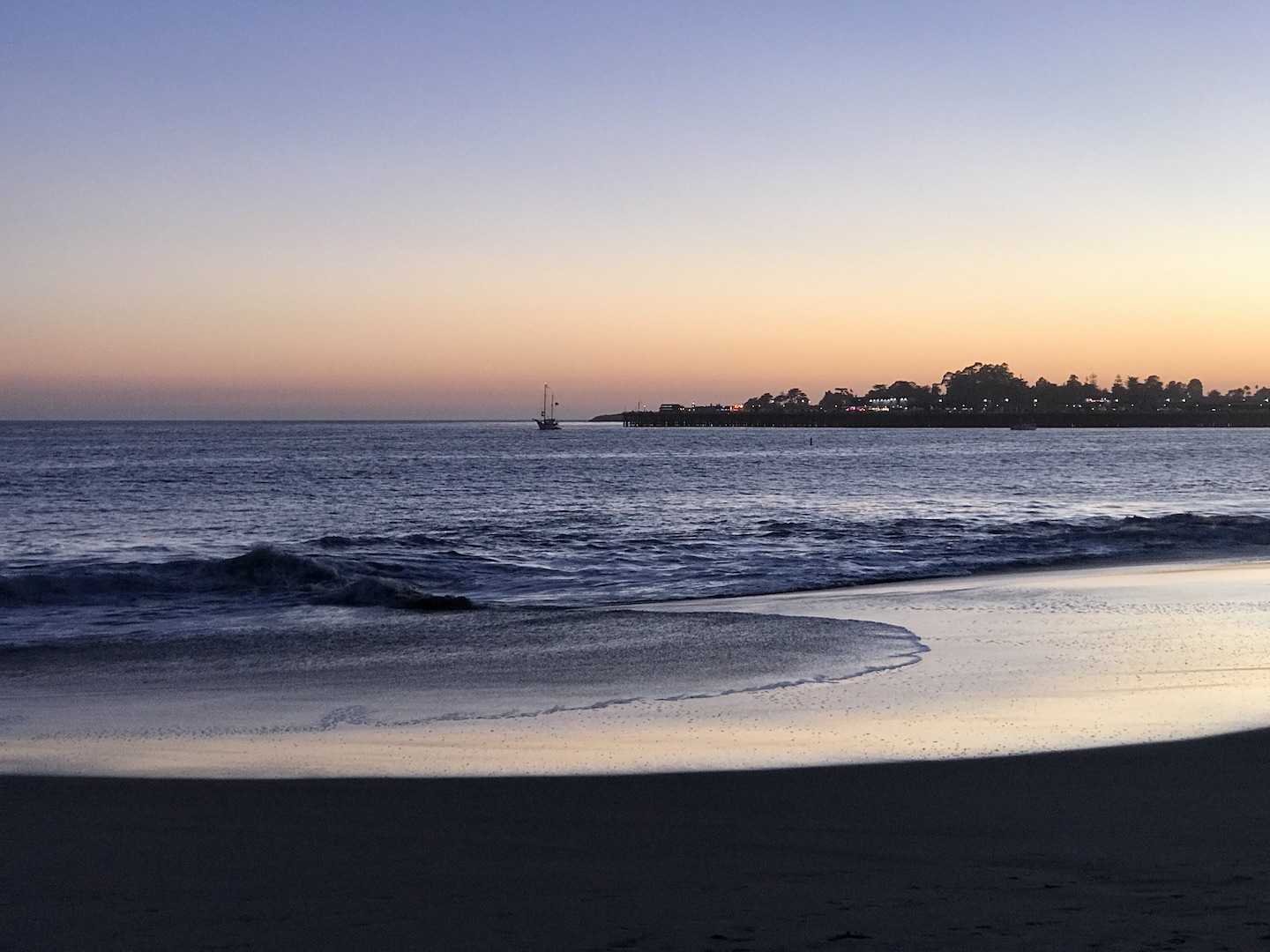 The sunsets at Seabright Beach are often amazing, with the Santa Cruz Municipal Pier in the background, and sea lions barking in the distance and often seen swimming close by.