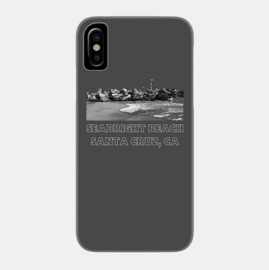 Seabright Beach, Santa Cruz II Phone Case.  Available in Black for a variety of Apple iPhones and Galaxy smartphones. High quality polycarbonate. Access to all ports. Fade and Scratch resistant.   Order Here .  Reg:  $25 - $30