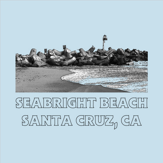 Seabright Beach collection featuring men's, women's and children's clothing apparel with a retro design.
