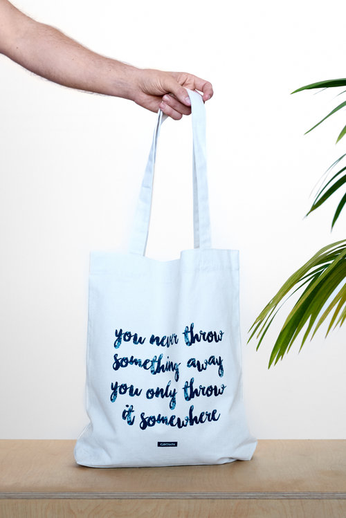 100% RECYCLED TOTE BAG