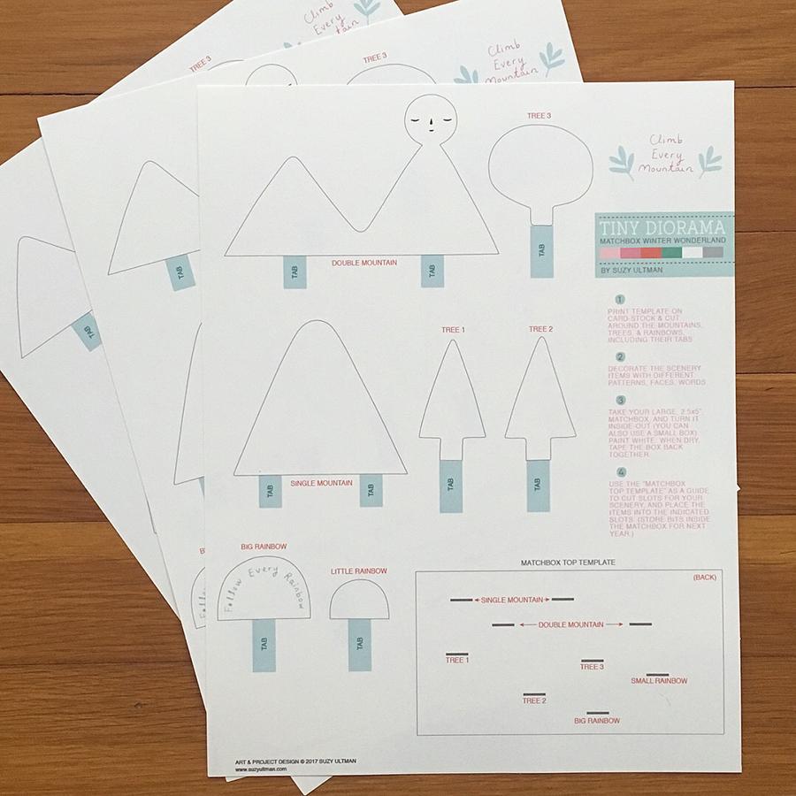 graphic regarding Printable Diorama named Printable, Little Diorama Suzy Ultman