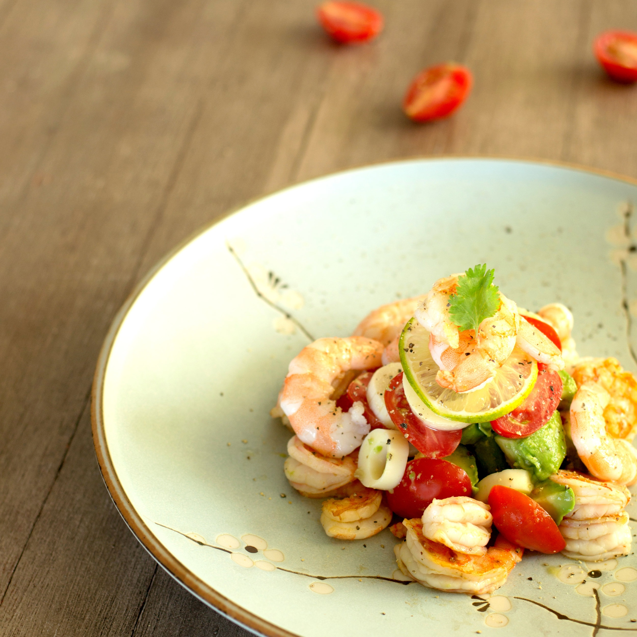 Delicious Summer Cilantro Lime Shrimp Salad