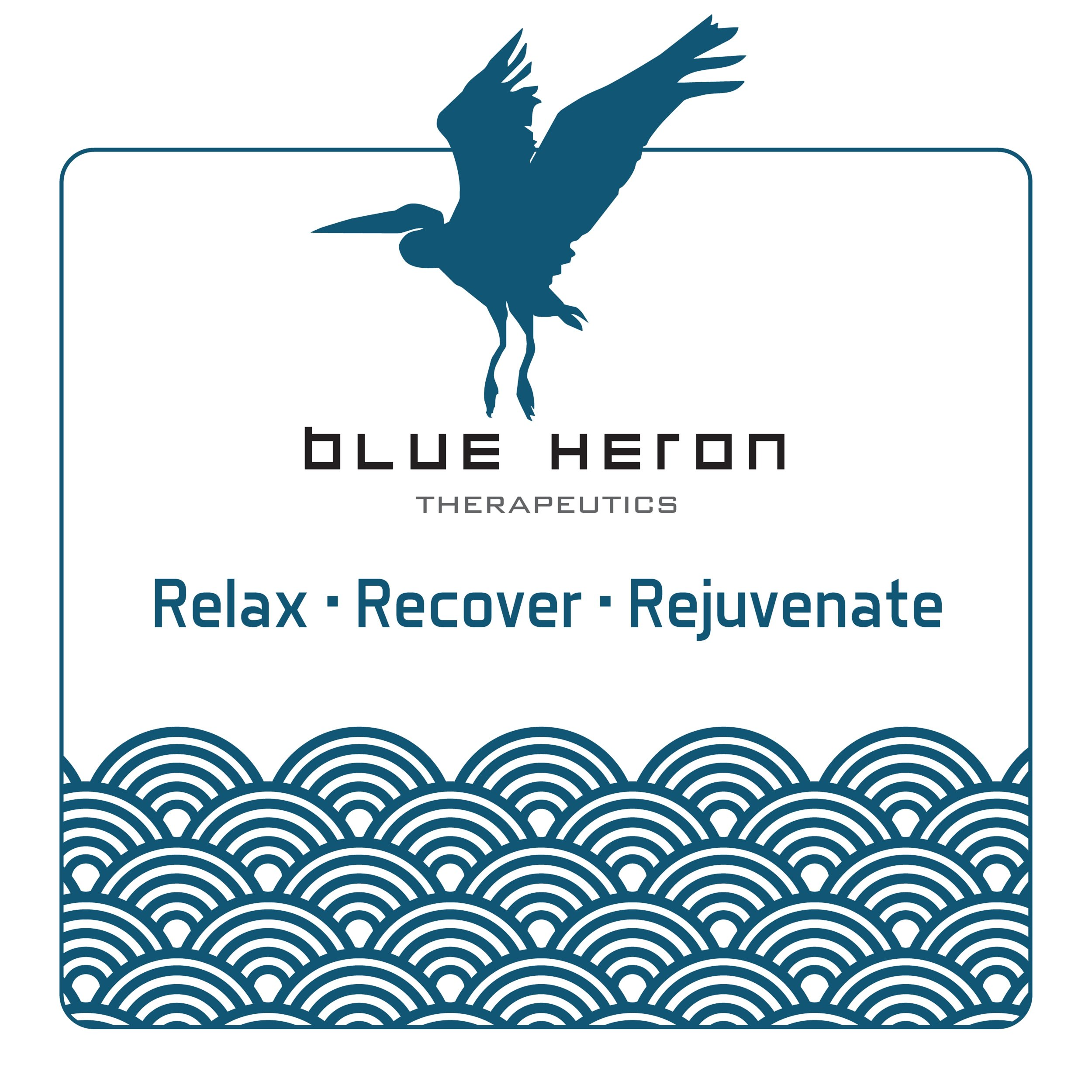 Blue Heron Therapeutics    Blue Heron Therapeutics is a luxury professional massage studio that specializes in Thai Yoga massage, deep tissue massage, meridian fascial cupping, sports and injury rehabilitation, relaxation therapy, prenatal, and Swedish massage. If you are unsure which treatment is best for you, we'll take the time to talk with you and study your habits to determine the temperature, pressure, and modality best suited for your body's conditions.