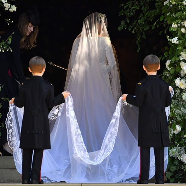 every little detail pure perfection...the backdrop, these children 🤗, the dress, that veil!!!, the message 💕💕💕 loved every moment! photo via @todayshow #royalwedding #thisislove #stunning #happiness #love