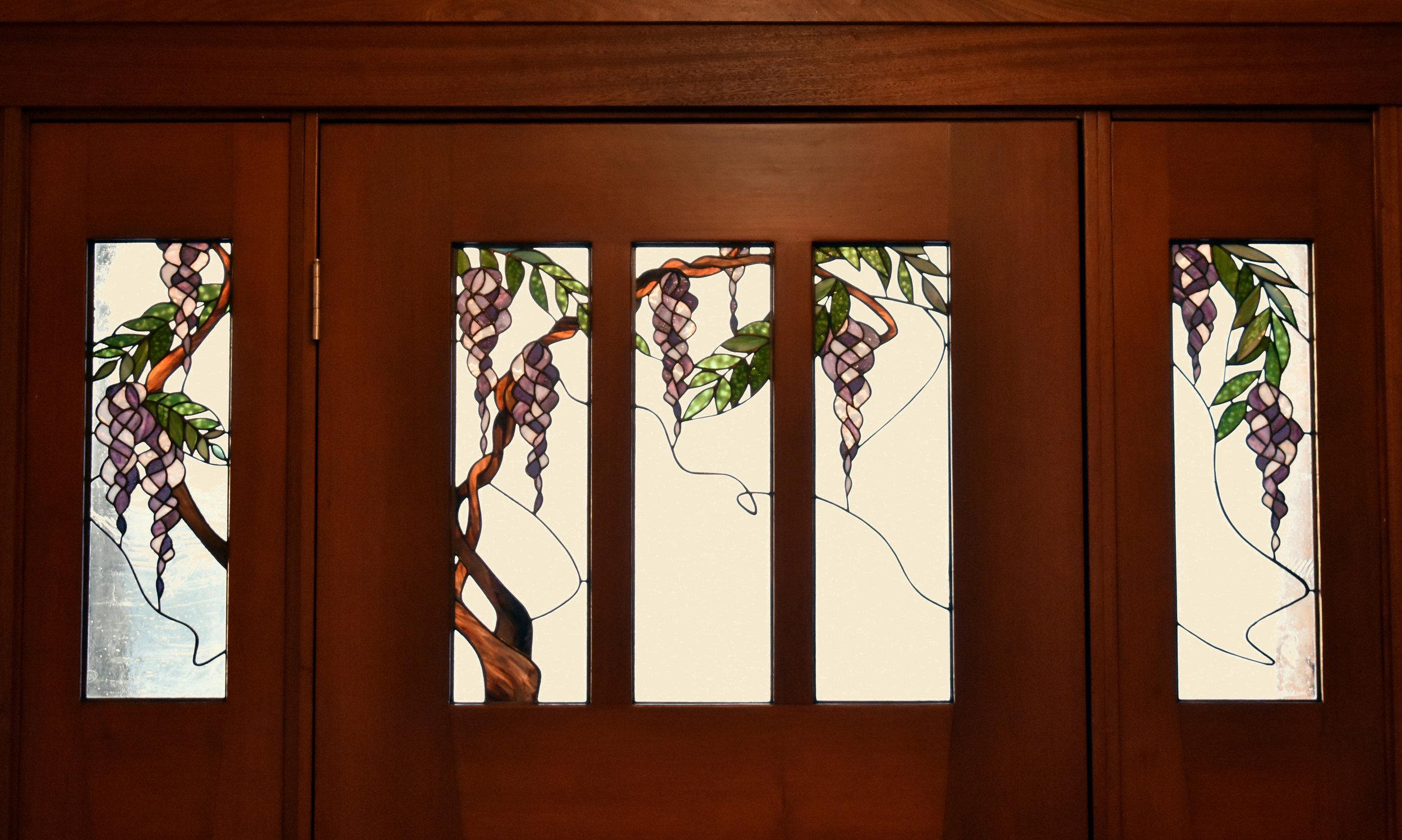 Wisteria door and Sidelites