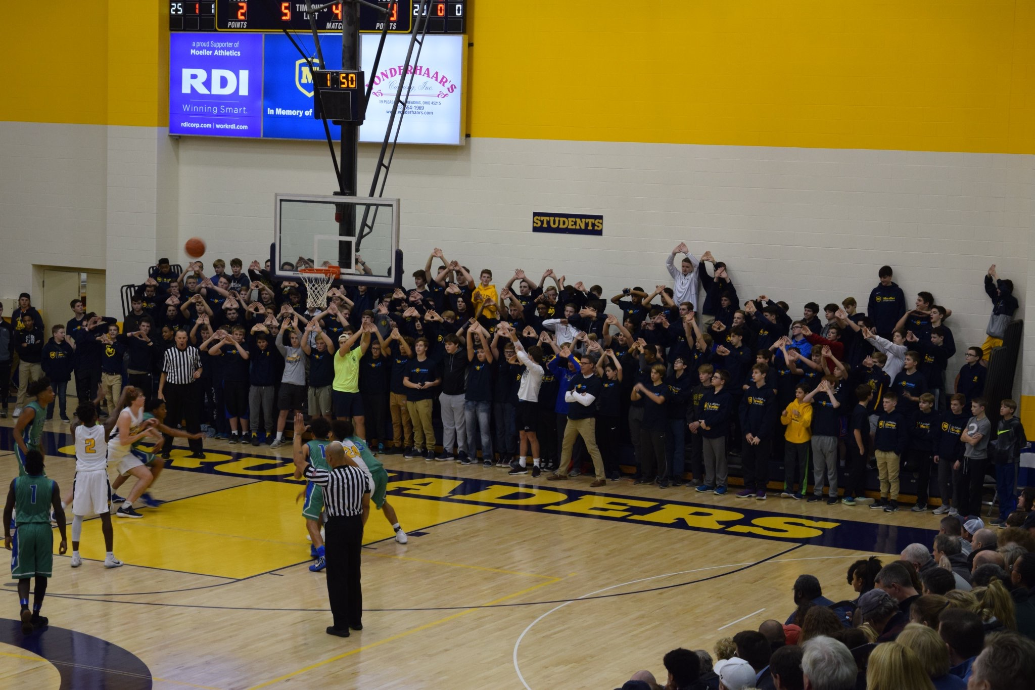 Photo courtesy @MoellerHS on Twitter