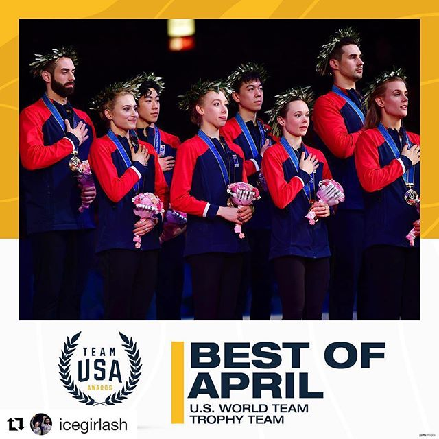 #Repost @icegirlash with @get_repost ・・・ ‪So HONORED to be a part of this amazing team that is nominated for the Best of April Team USA award! We would LOVE if you could vote for us! 🇺🇸Link is in my bio➡️ ‬#WTTFIGURE #TEAMUSA