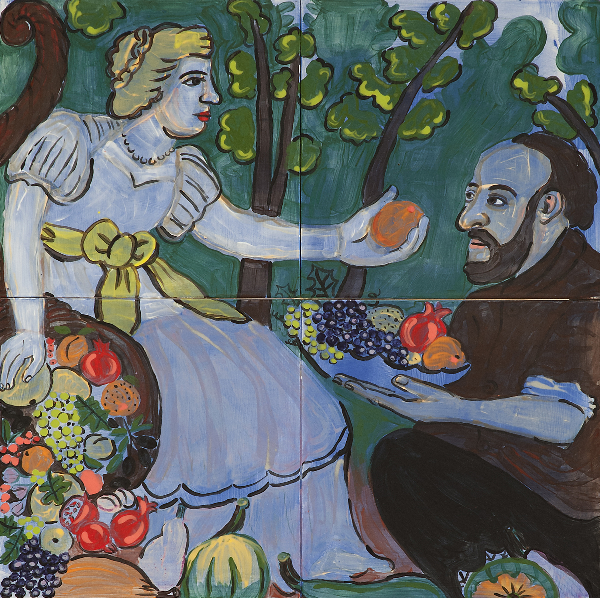 """""""Vertumnus and Pomona"""" (study after Juan Van Der Harmen)"""