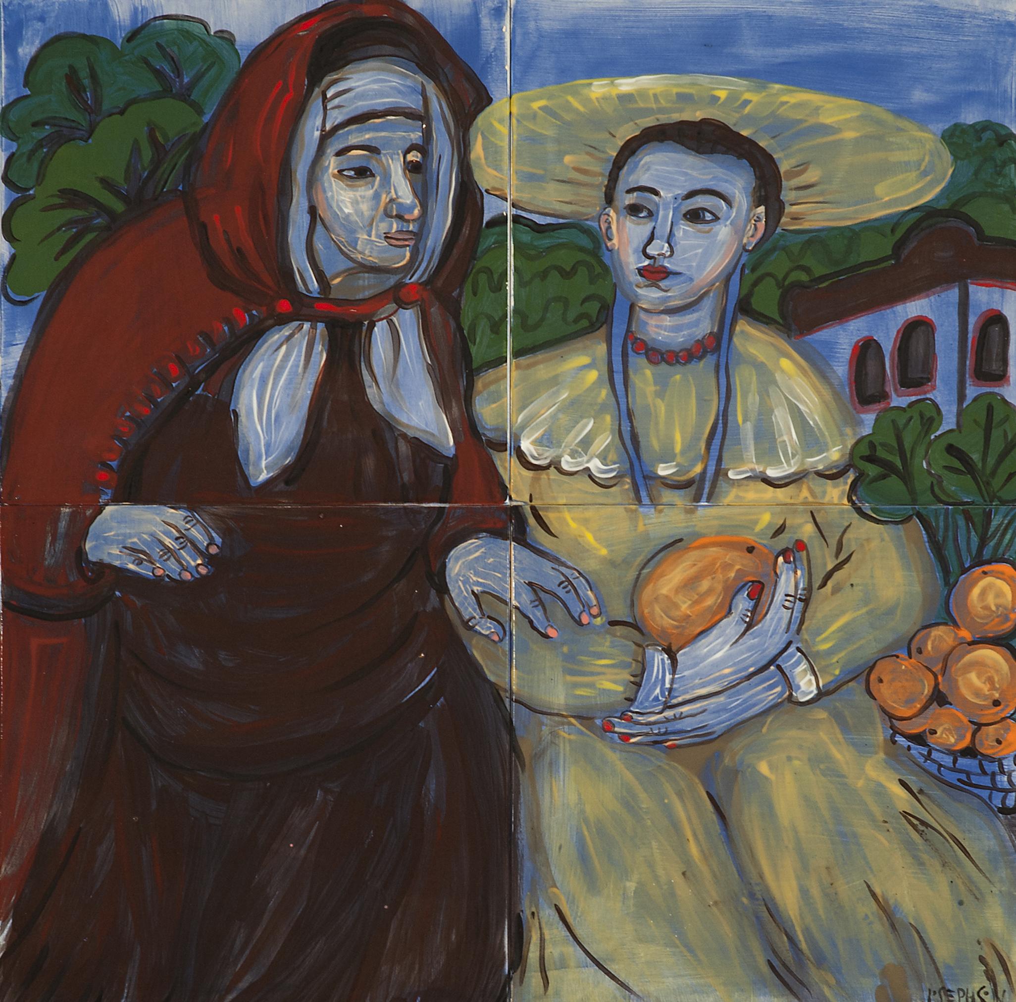 """""""Vertumnus and Pomona"""" (study after Art De Gelder)"""