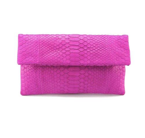 Hot Pink Python Clutch.jpg