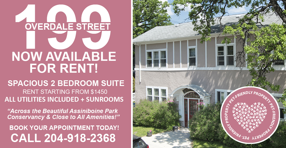 199 Overdale - Pet Friendly - Renovated 2 Bedroom for Rent - Call 204-918-2368.jpg