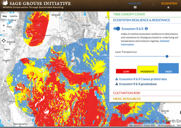 Sage Grouse Initiative Interactive Web Application -