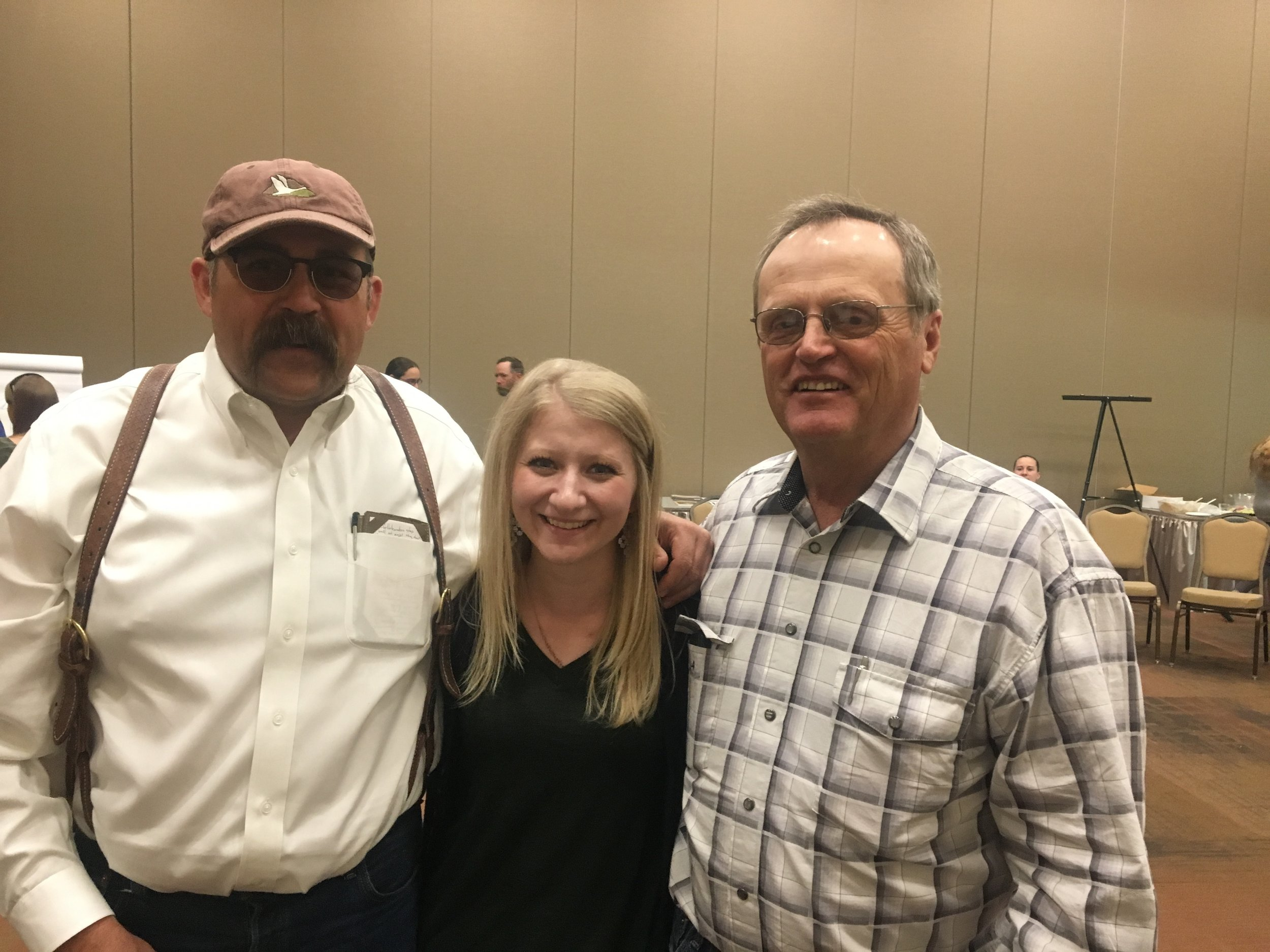 From left to right: Duane Coombs, Calee Lott and Jay Tanner.