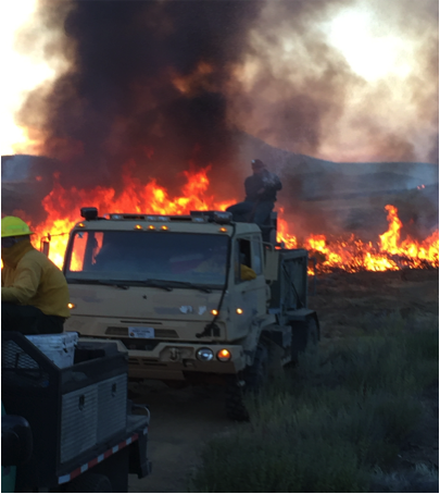 Volunteer Rangeland Fire Protection Associations are often the first responders on rural sagebrush country fires. Photo by Jordan Valley RFPA.