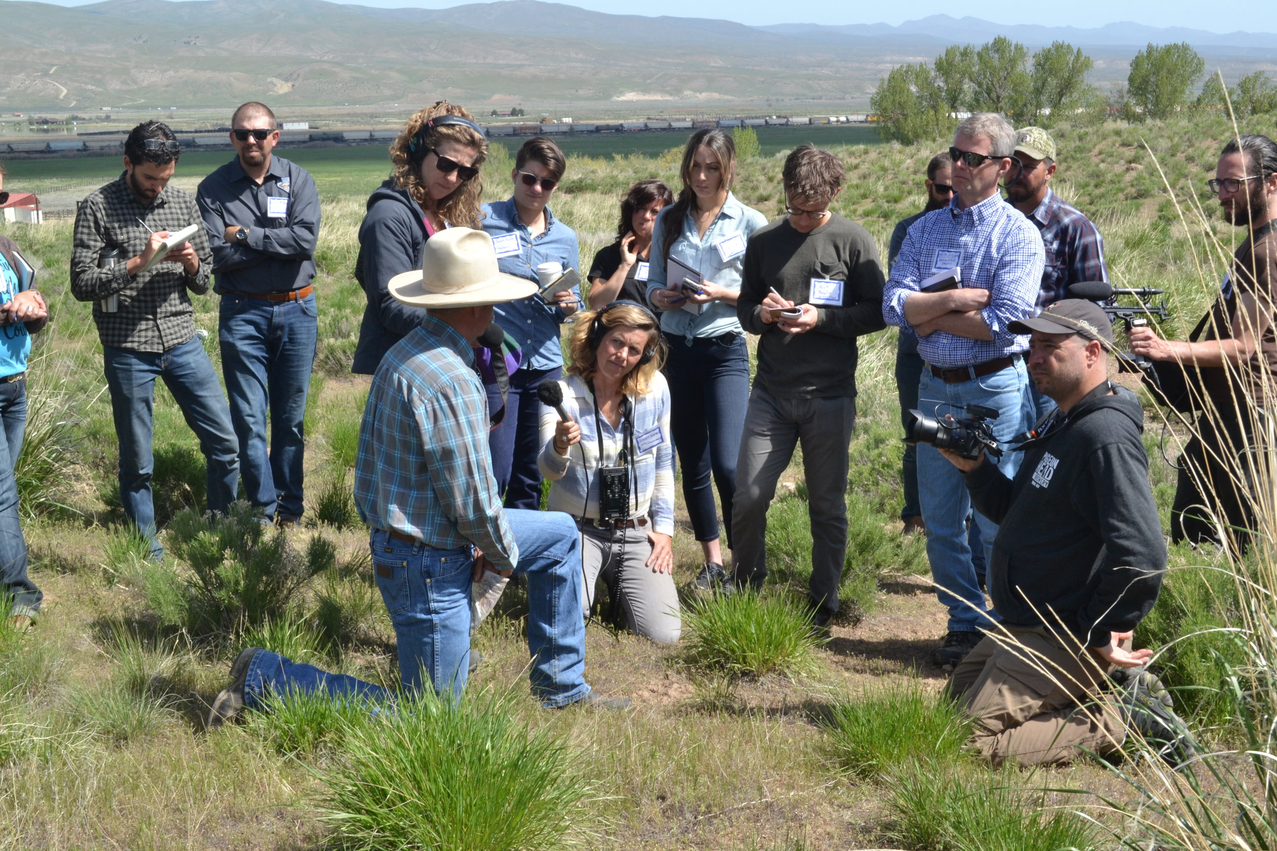 Jon Griggs, manager at Maggie Creek Ranch, spoke to journalists about the proactive management ranchers are implementing before a fire occurs. His labors and those of his peers attempts to lessen the impact fire has on livestock and wildlife.