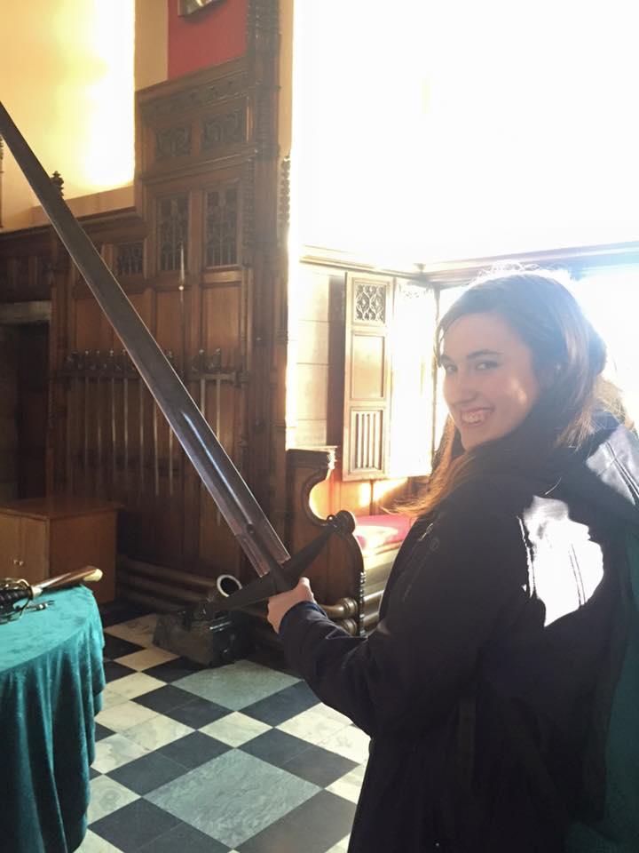 I swear I was supervised while holding the sword. Edinburgh, 2015.