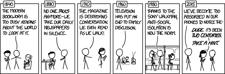He also uses this great  XKCD  comic that says pretty much what Hampton explains.