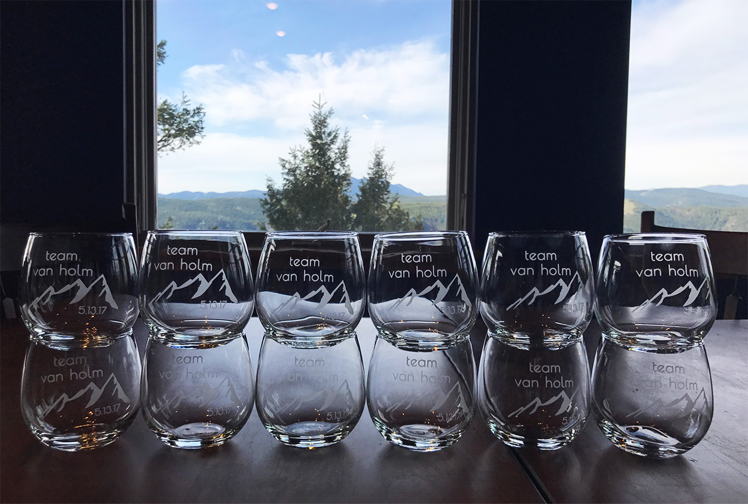 Custom Orders - Measured or not, we can custom etch glassware to take your special event to the next level. From weddings to personalized gifts, anything is possible. You can send us artwork or send us a note with what you're looking for and leave the design work to us. Fill out the form below to get started with a quote.