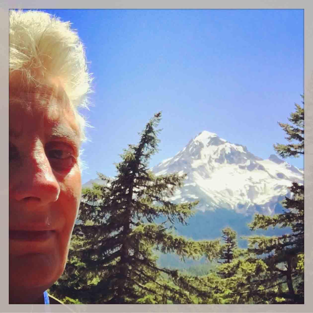 Sue Allen with her Mt Hood