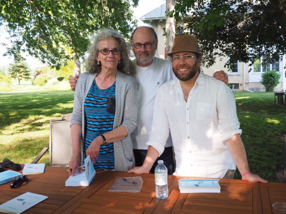 From left to right: Governor General's Award-winning author Diane Schoemperlen, Windsor Poet Laureate Marty Gervais, and author D.A. Lockhart. Photo credit: Sharon Hanna, c/o Marty Gervais