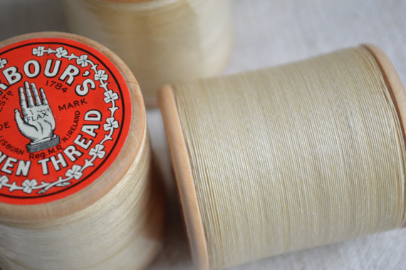 Barbour's linen thread used in traditional leatherwork, learn how to build a leathergoods business, sell your leathergoods, how to start a small business, leather beast