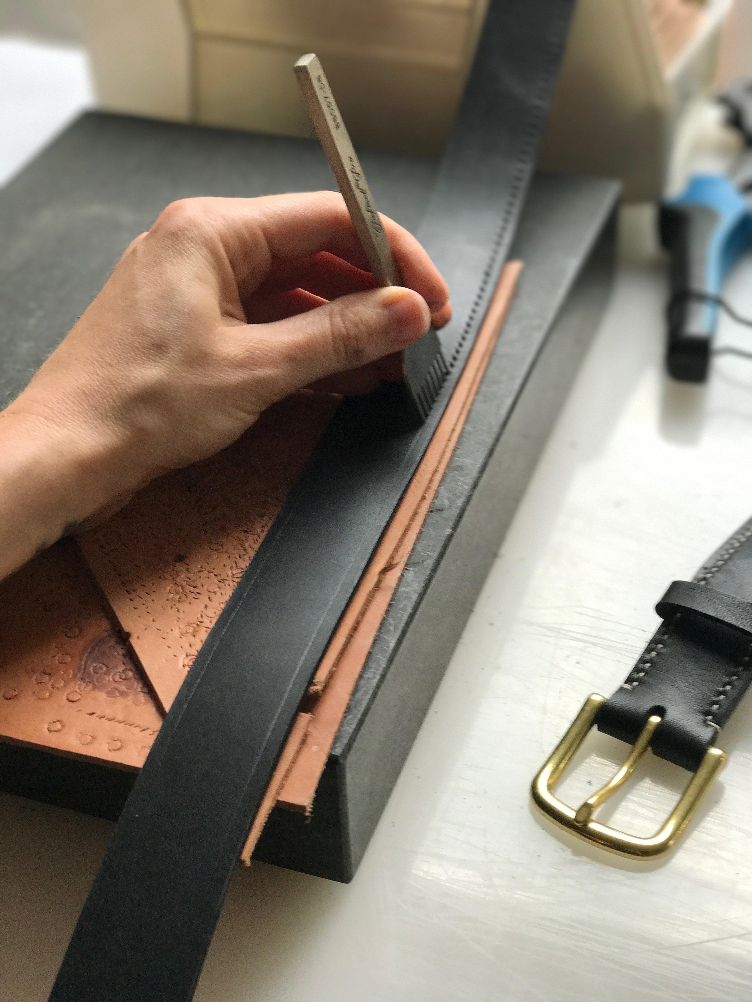 leather beast stitching chisels leatherworking