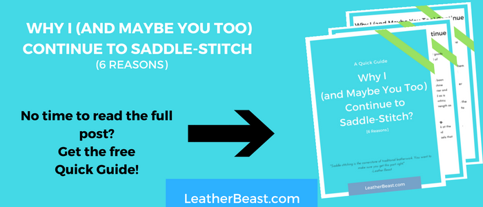 Why i (and maybe you too) continue to saddle-stitch