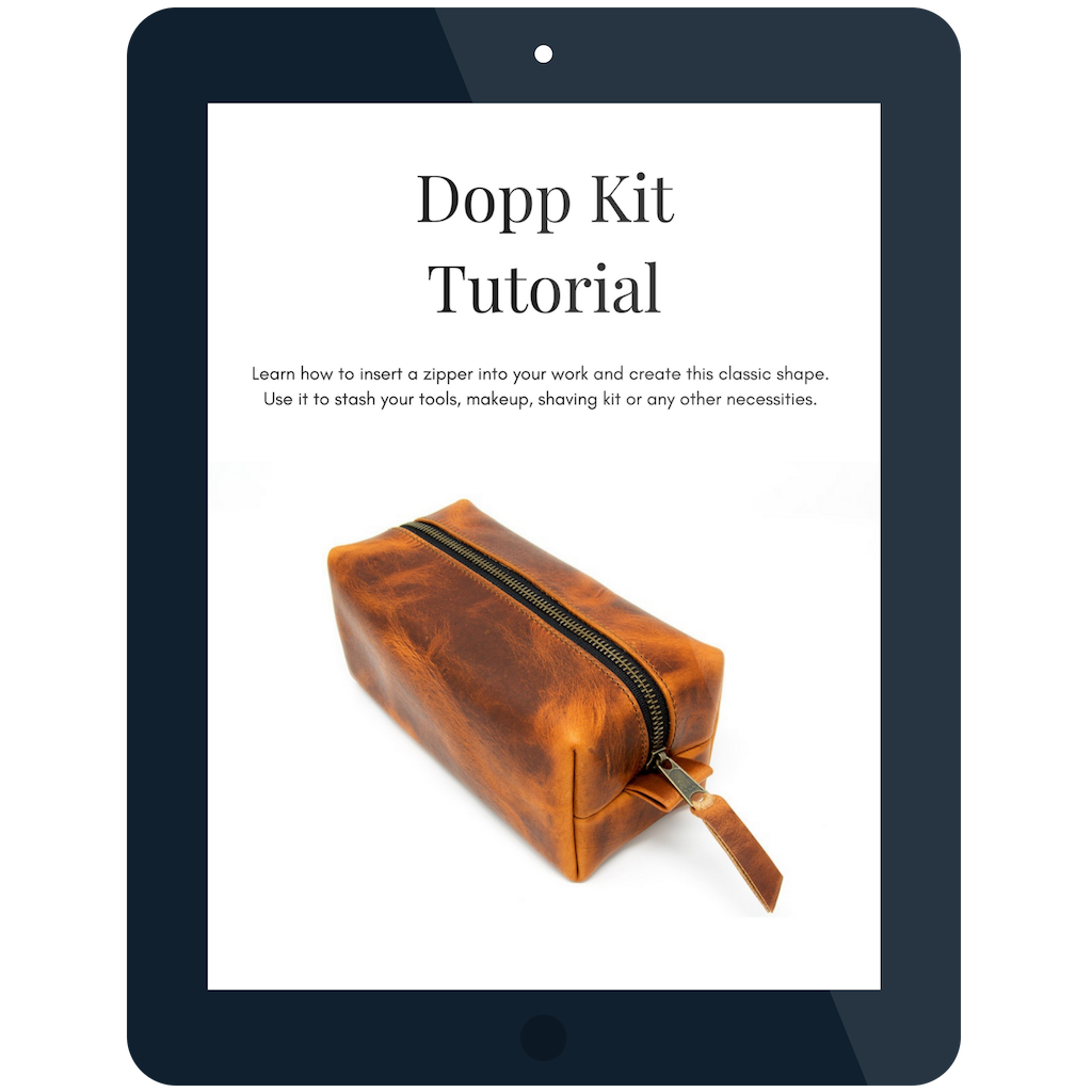 Dopp kit tutorial bonus guide with mastering tradtional leatherworking basics