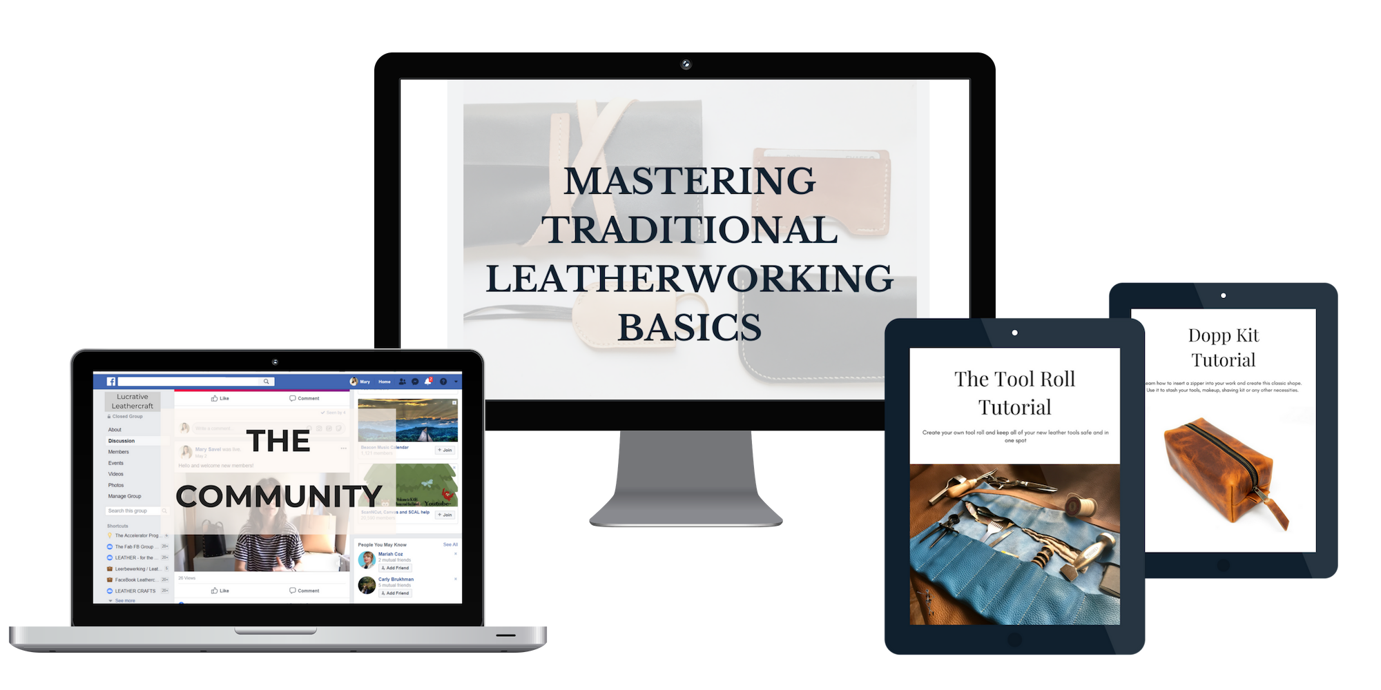 mastering traditional leatherworking basics, the ecourse from leather beast