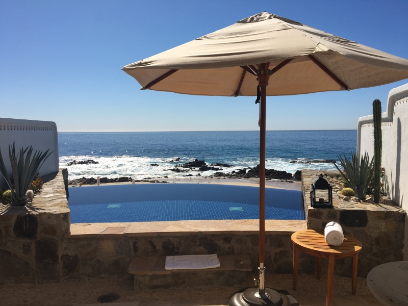 Casa Sirena Infinity Pool on Turtle Beach