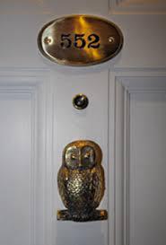 Harry Potter Suite Owl Door Knocker