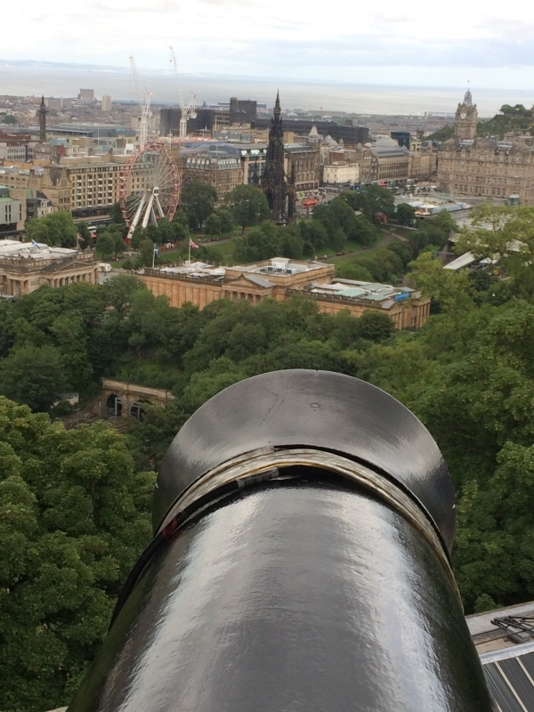 View of Edinburgh from the Castle