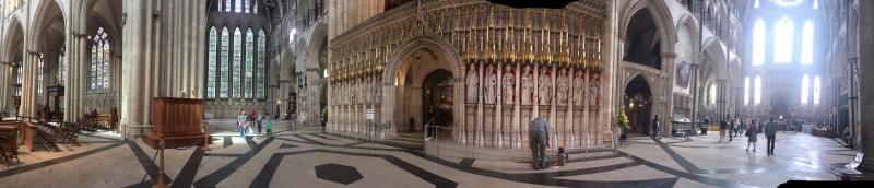 Panoramic View of York Minster Interior