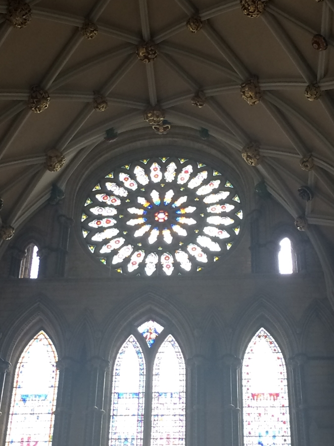 Rose Window in South Transept York Minster