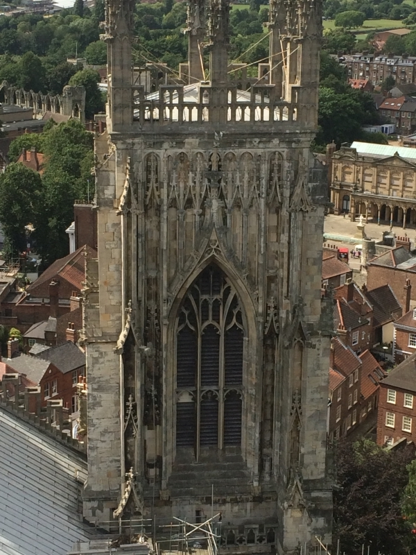 View of York Minster Tower from Roof