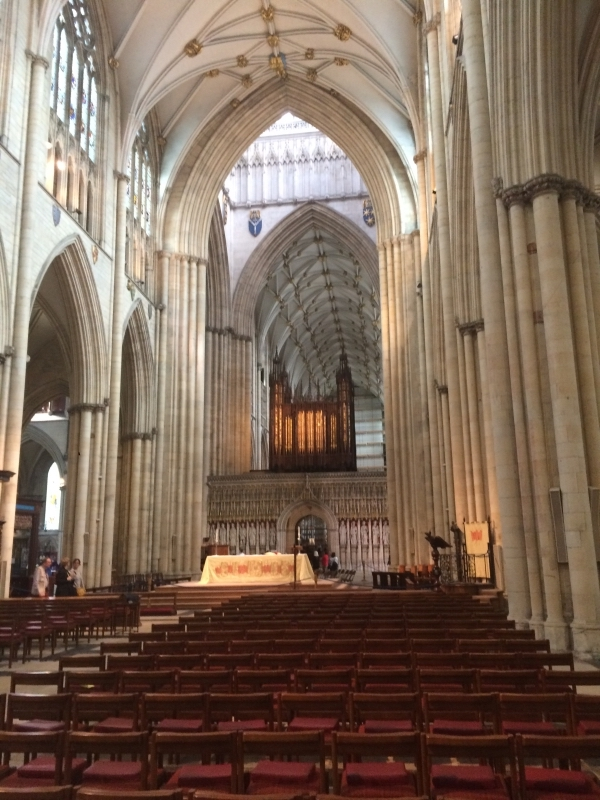 View of Nave and King's Screen Below Organ