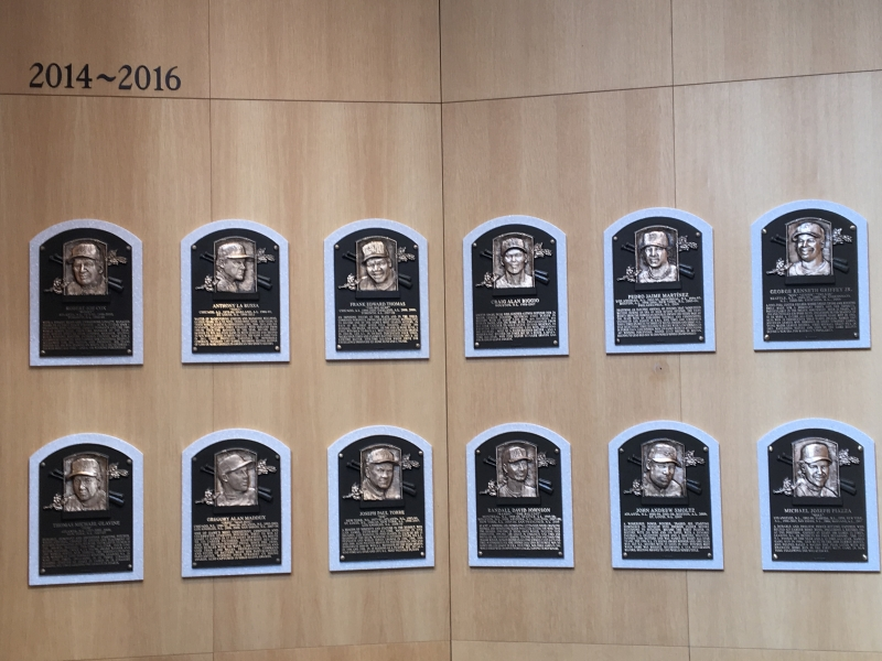 Most Current Plaques of Baseball Hall of Fame Inductees