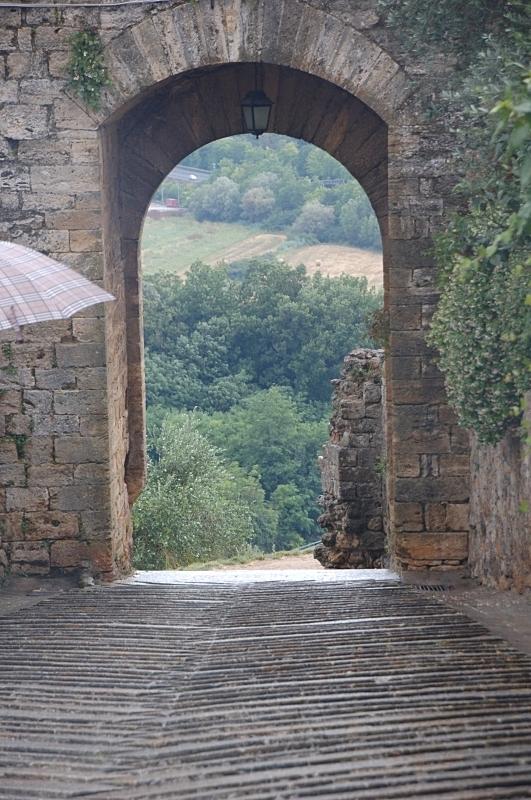 Castle Wall Gate in Monteriggioni