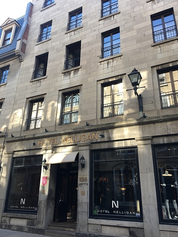 Entrance of The Hotel Nelligan on rue Saint-Paul