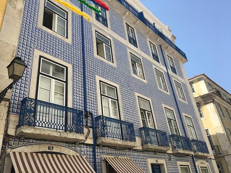 Blue Azulejos on Buildings