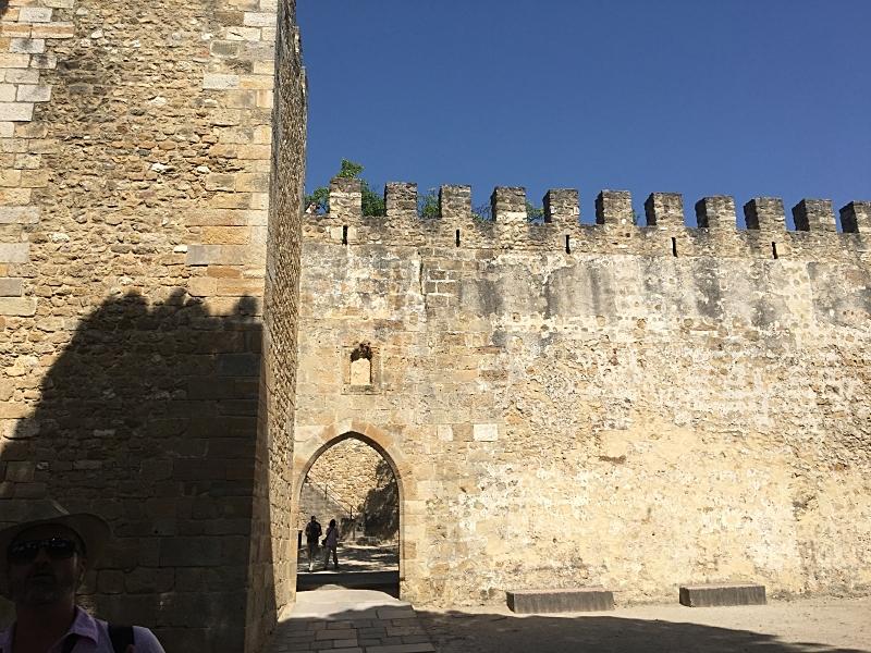 Crenelated Castle Walls