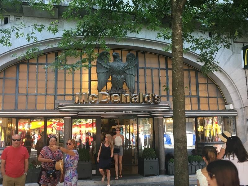 Exterior of McDonalds