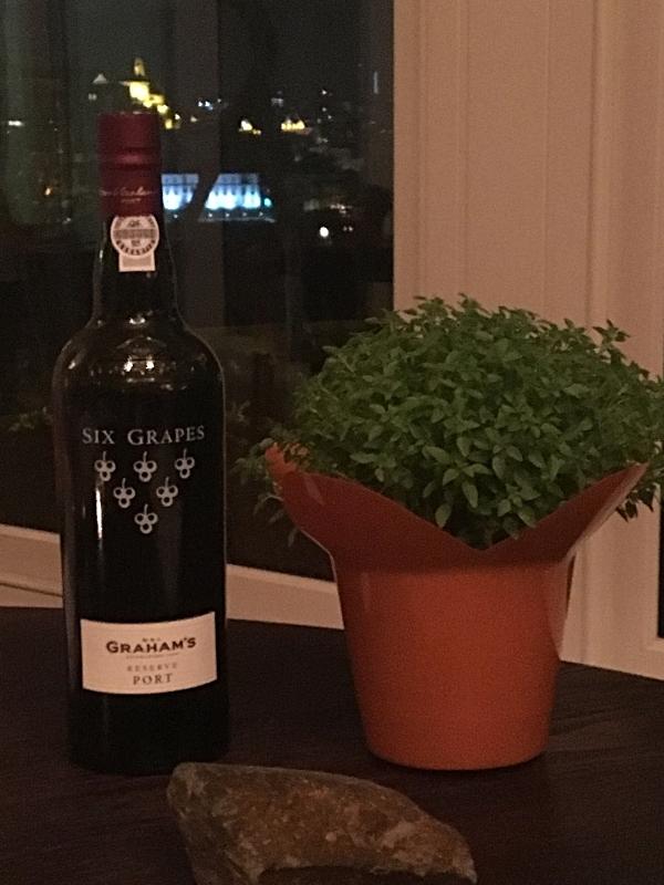 Grahams' Port With Traditional Basil Plant