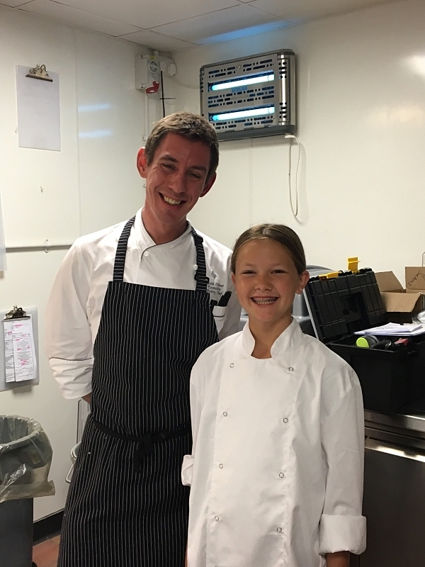 Chef David and my daughter