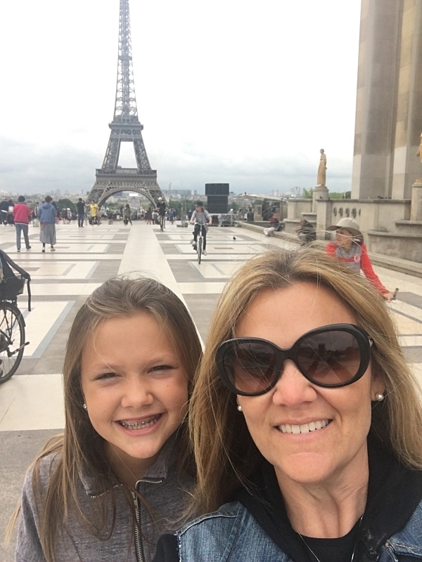 Our View of The Eiffel Tower from Trocadéro