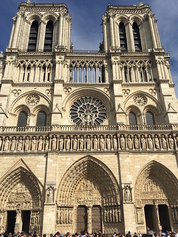The Facade of Notre-Dame de Paris